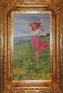Żelechowski Kasper (1863 - 1942), Dziewczyna na łące, 1930