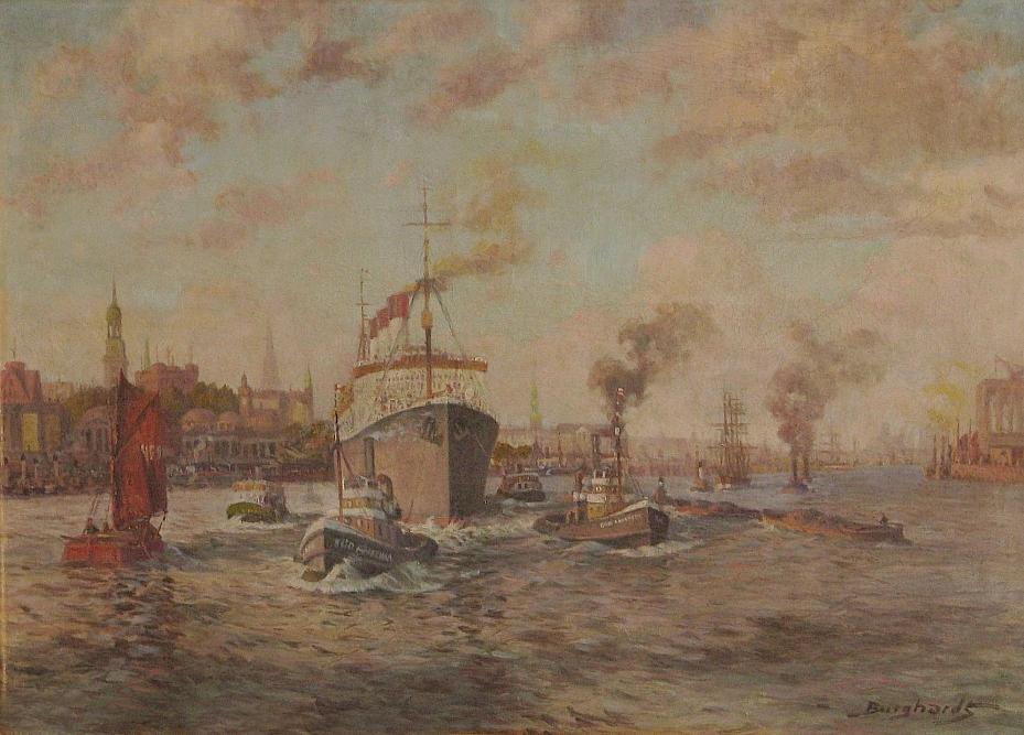 Burghardt Gustav (1890 - 1970), Port w Hamburgu