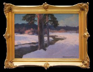 Korecki Wiktor  (1890-1980), Pejzaż zimowy ze strumieniem