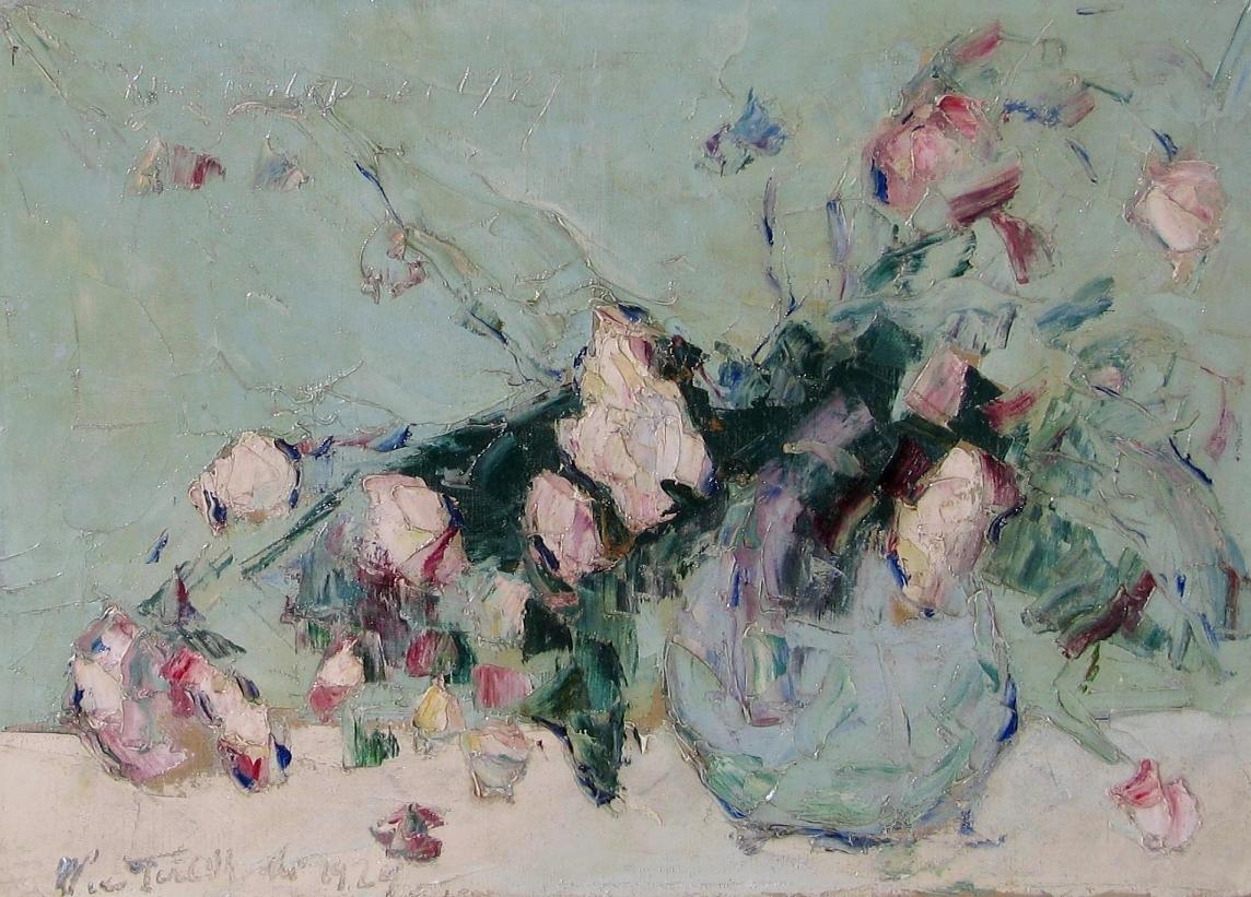 Terlikowski Włodzimierz (1873-1951), Kwiaty w wazonie, 1929