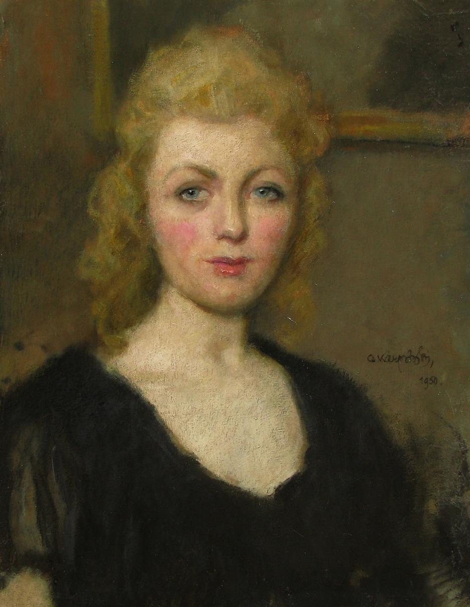 Karpiński Alfons (1875 - 1961), Portret kobiety, 1950