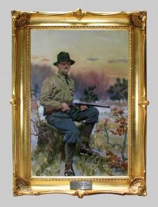 Kossak Jerzy (1886-1955), Portret Ppłk. Dziurzyńskiego , 1932