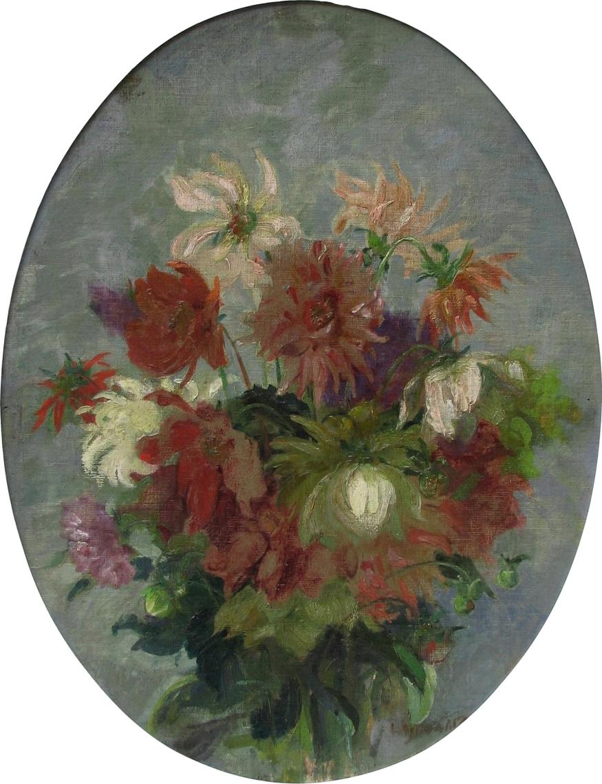 Wojtkiewicz Witold (1879-1909), Kwiaty - Dalie, ok. 1905