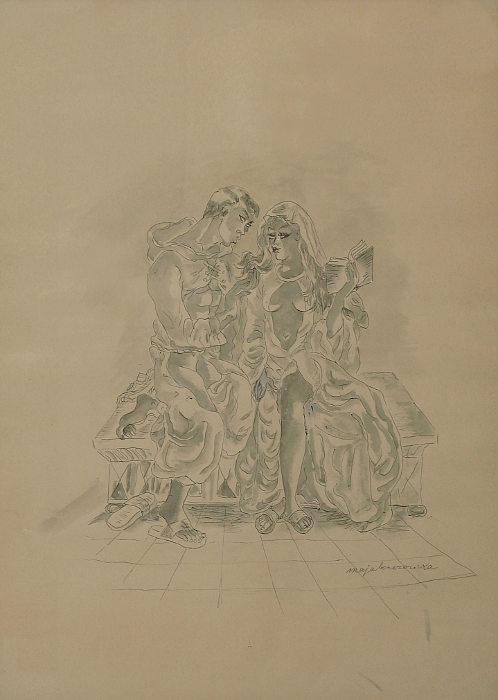 Berezowska Maja (1898-1978), Flirt