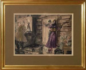 Uniechowski Antoni (1903-1976), Scena w karczmie