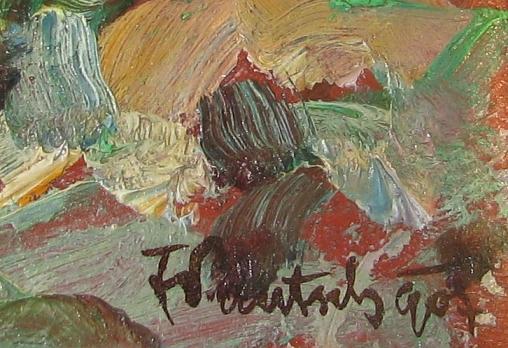 Pautch Fryderyk (1877 - 1950) Scena miejska , 1907