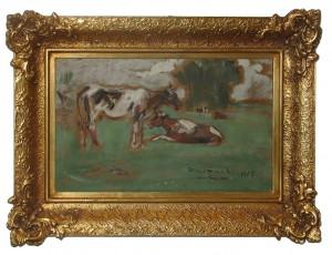 Hofman Wlastmil (1881-1970), Krowy na pastwisku, 1907