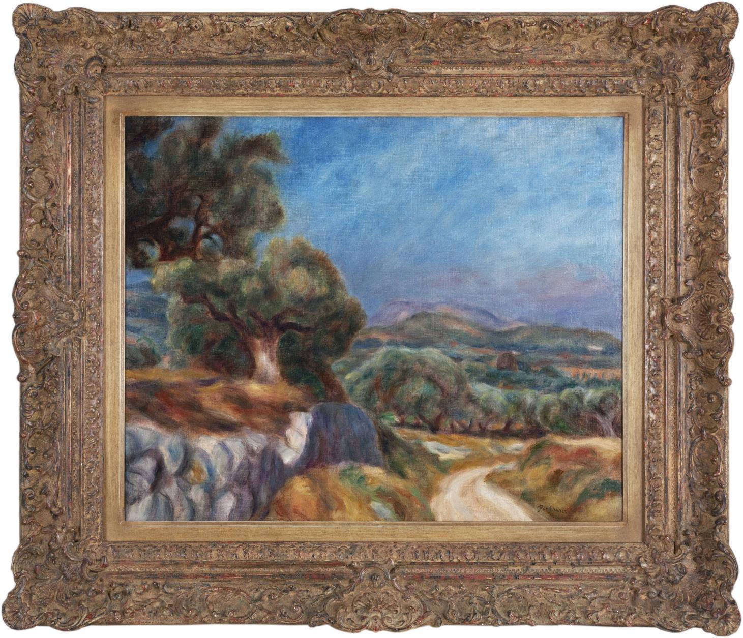 Pankiewicz Józef (1866 - 1940), Droga wśród gajów oliwkowych La Ciotat , 1927