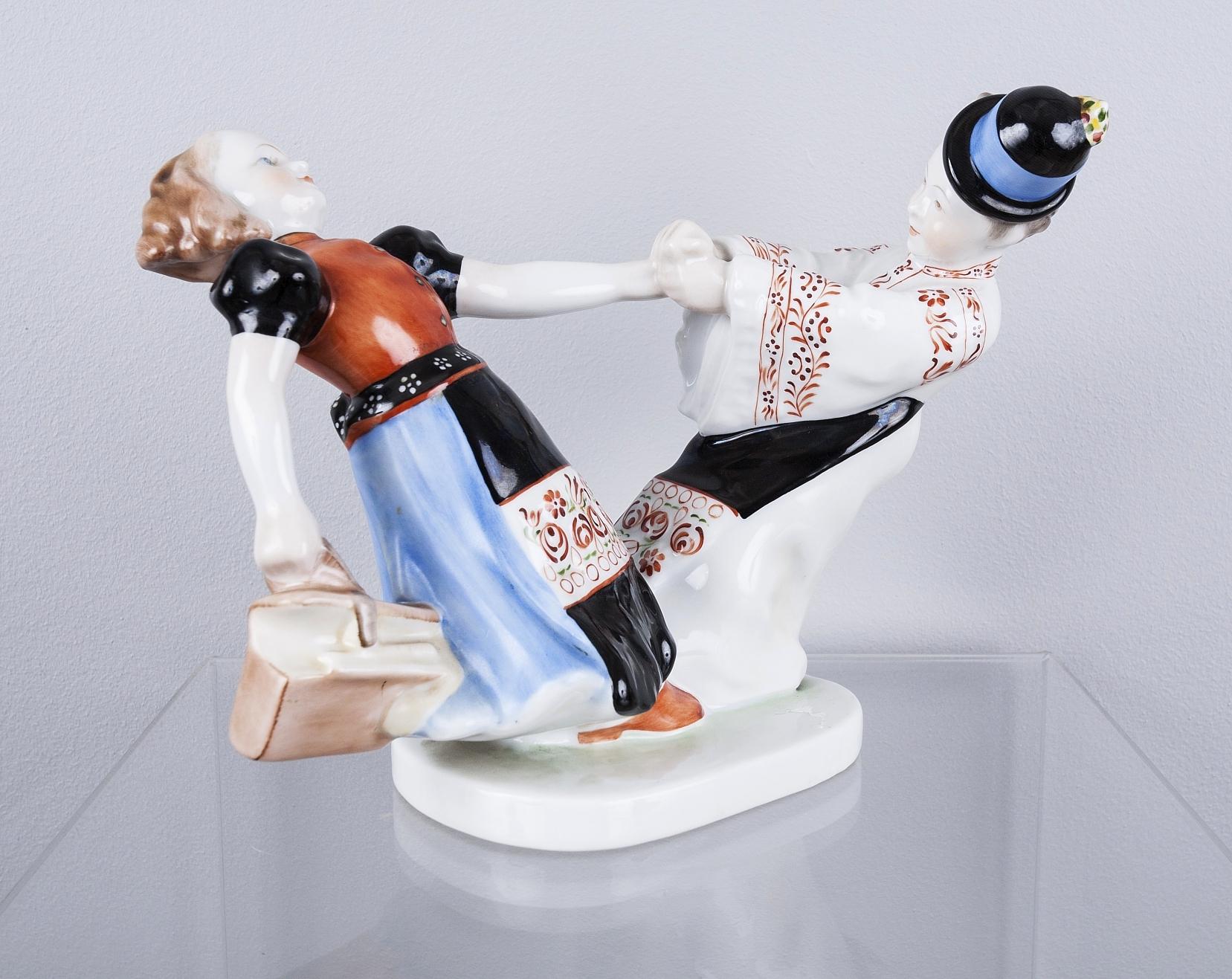 Figurka porcelanowa - Tańcząca para,  Herend.