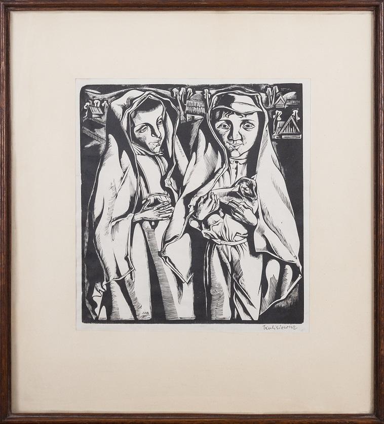 KULISIEWICZ TADEUSZ (1899-1988), DZIECI Z JAGNIĘCIEM