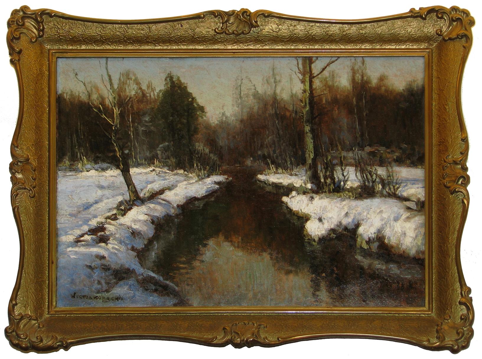 Korecki Wiktor (1890-1980), Pejzaż zimowy