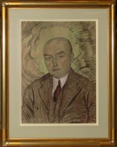 WITKACY - WITKIEWICZ STANISŁAW IGNACY (1885-1939), PORTRET MĘŻCZYZNY , 1930