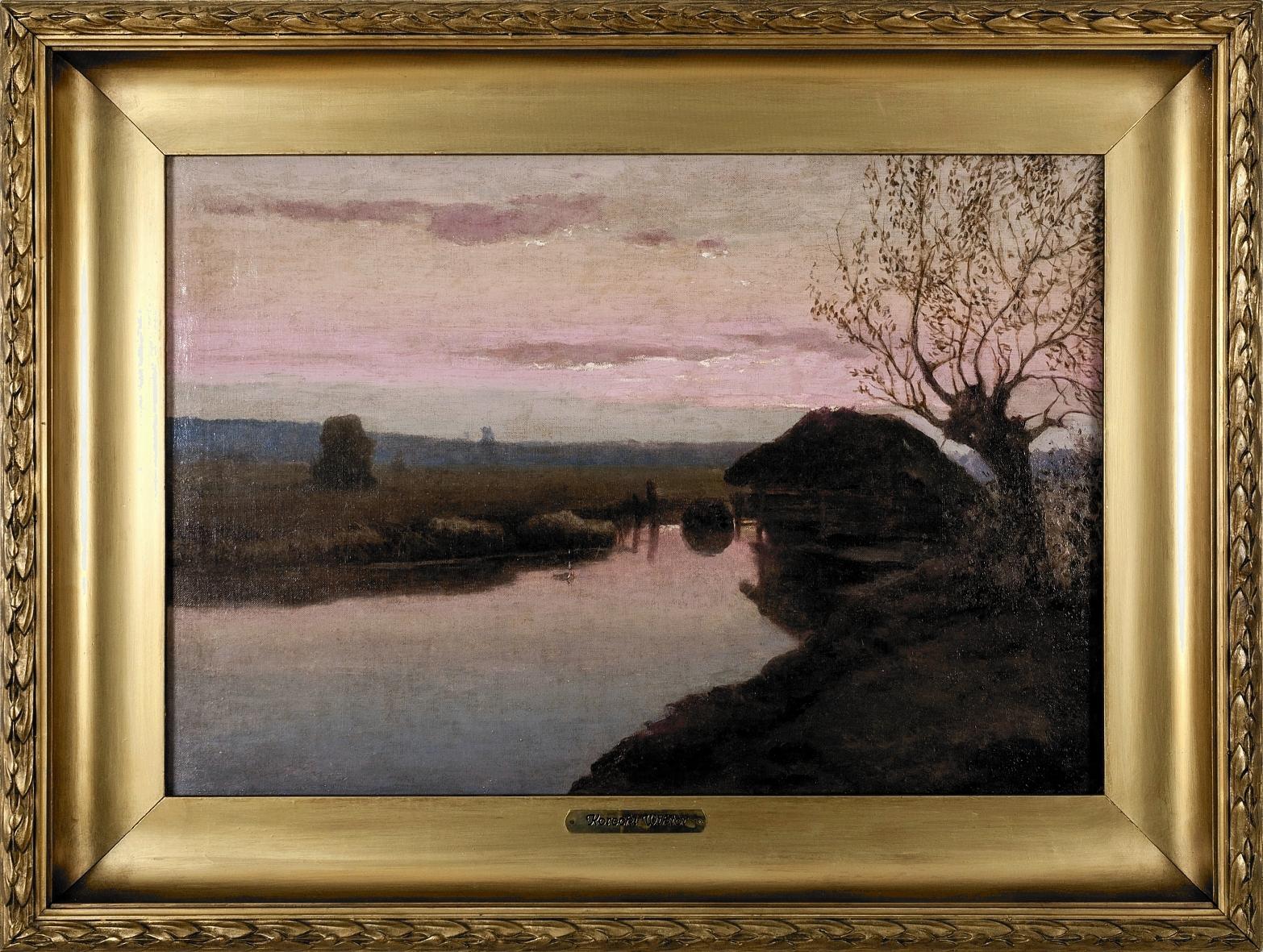 Korecki Wiktor (1890-1980), Młyn o zachodzie słońca, 1931