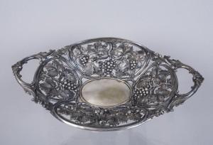 Patera ażurowa, srebro, Niemcy XX wiek.