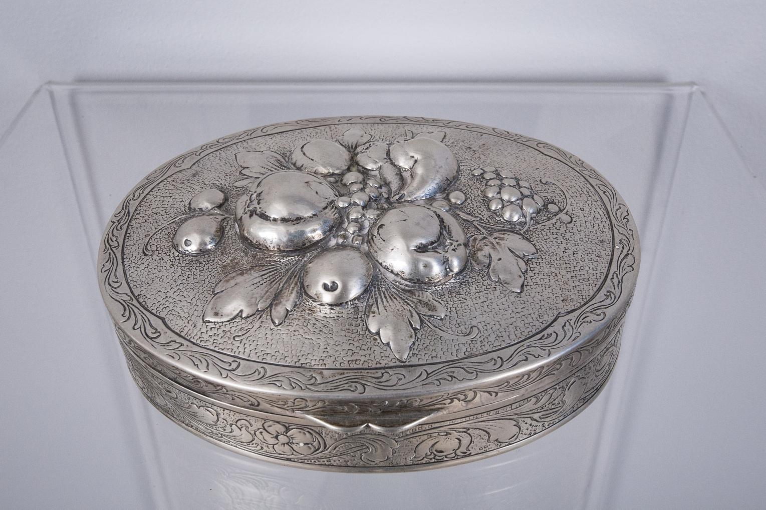 Puzdro srebrne, Niemcy XIX/XX w.