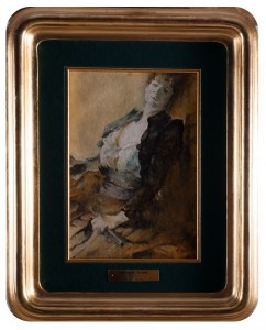 Franciszek Żmurko (1859 - 1910) , Dama z wachlarzem