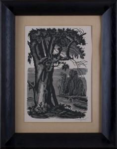 KUCZYŃSKI EDWARD (1905 - 1958), PEJZAŻ Z POSTACIĄ
