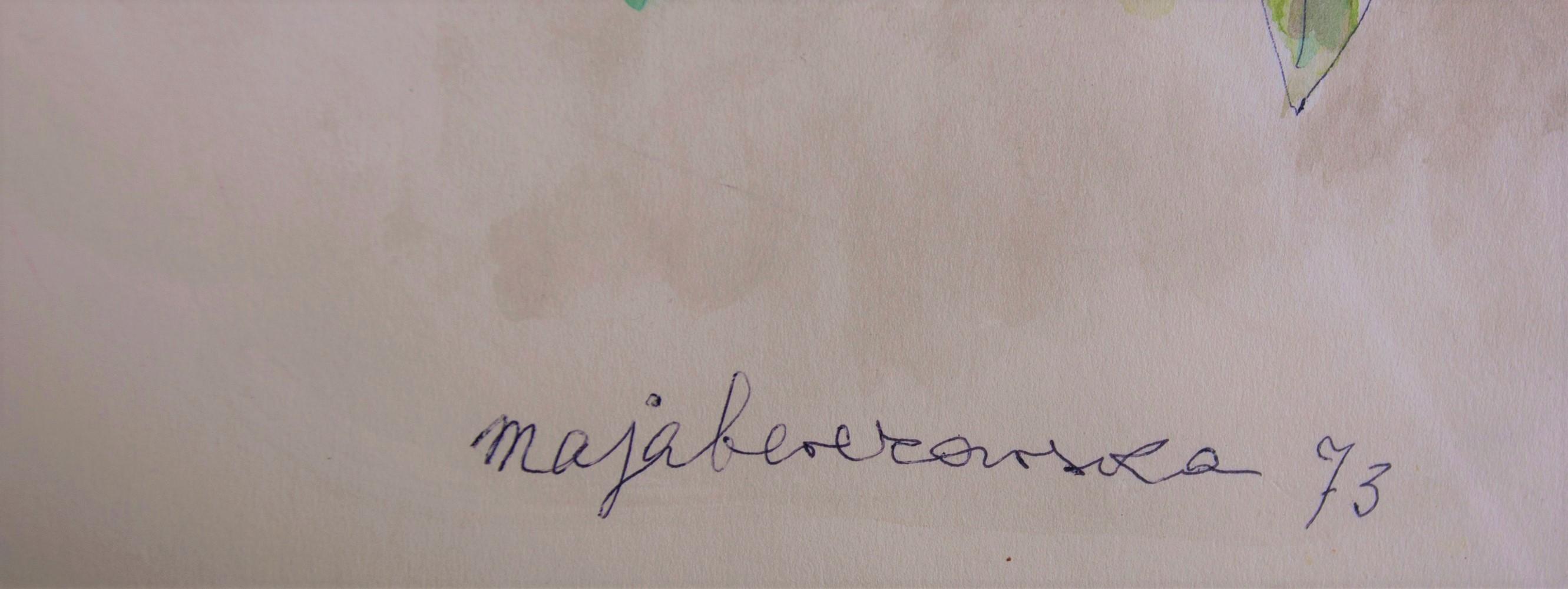 BEREZOWSKA MAJA (1897 - 1978), MARTWA NATURA Z KWIATAMI I CZESKĄ PORCELANĄ