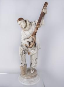 Angiolo Vannetti (1881-1962), Pierrot grający na mandolinie