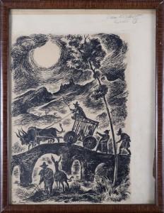 Szancer Jan Marcin (1902-1973), Ilustracja do Don Kichota z La Manczy, 1946