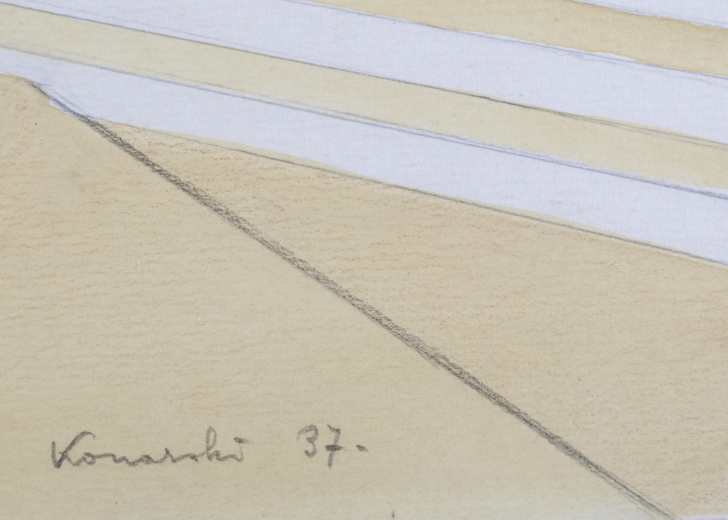 KONARSKI MARIAN (1909-1998), PROJEKT SCHODÓW II, 1937