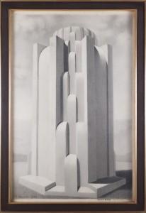 KONARSKI MARIAN (1909-1998), Szczyt Kopca na Sowińcu, 1936
