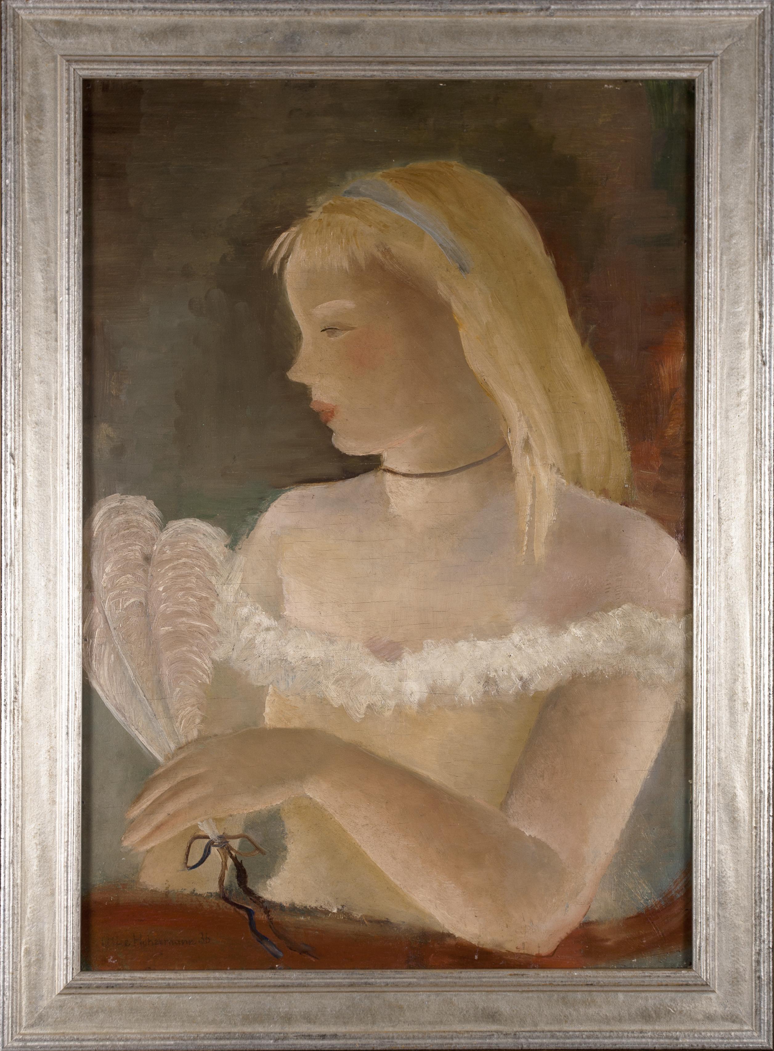 Hohermann Alicja (1902 - 1943), Kobieta z wachlarzem piór, 1936