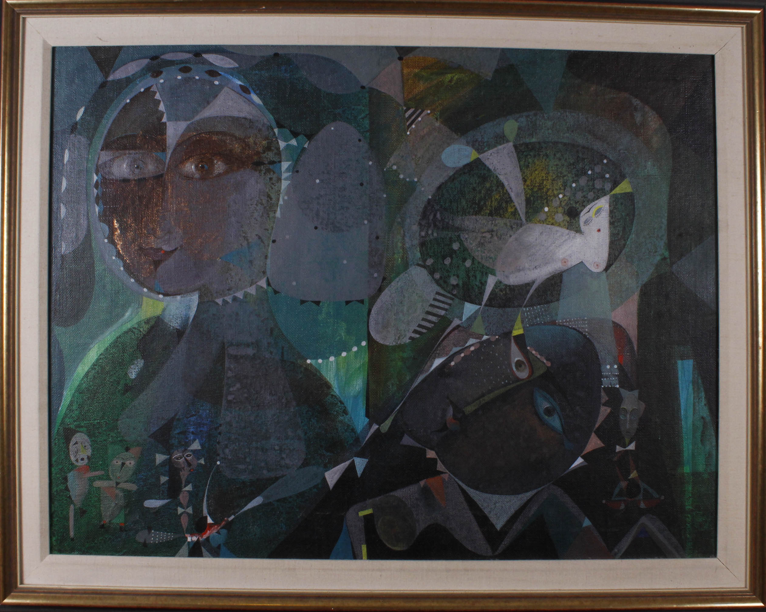 GRIP Alexander (ur. 1956) Kompozycja z postaciami