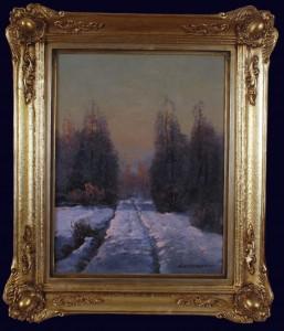 WIKTOR KORECKI (1890 - 1980), Pejzaż zimowy