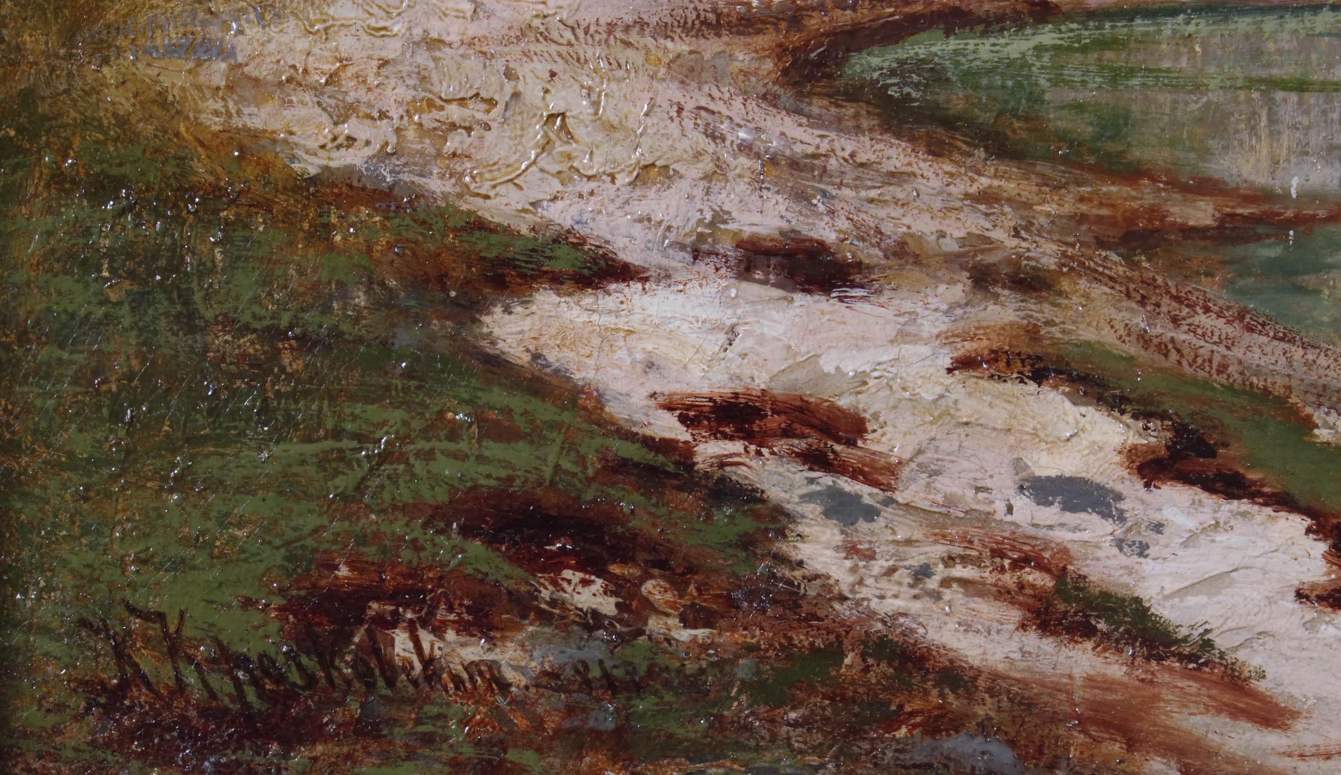 KRACZKOWSKI (Josif Jewstafjewicz Kraczkowskij) Józef Anatoliusz (Warszawa 1854 - Cadenabbia, Włochy 1914)  Pejzaż o zachodzie słońca