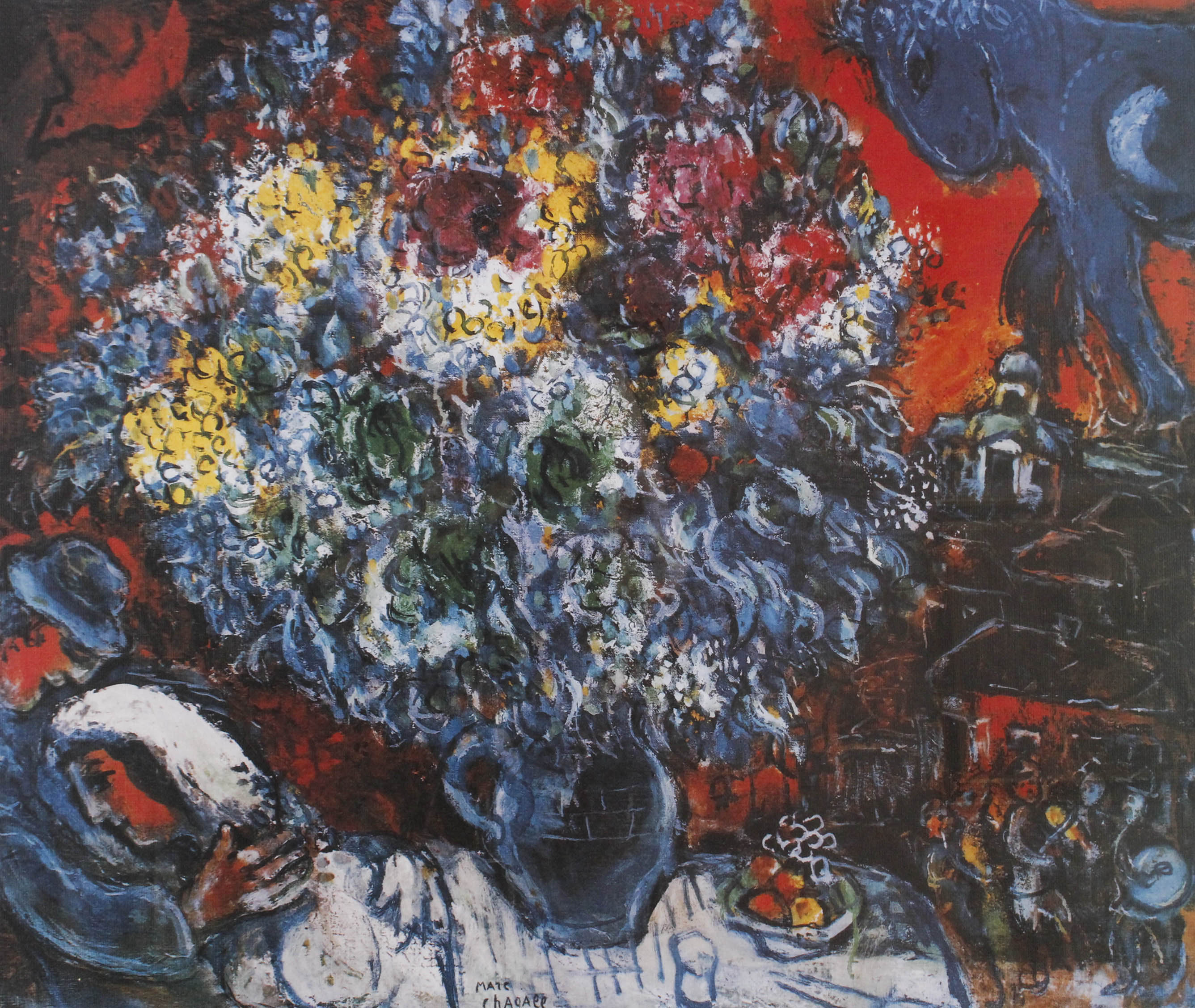 CHAGALL Marc (1887-1985) Bouquet De Fleur et Amants, ed. 467/500