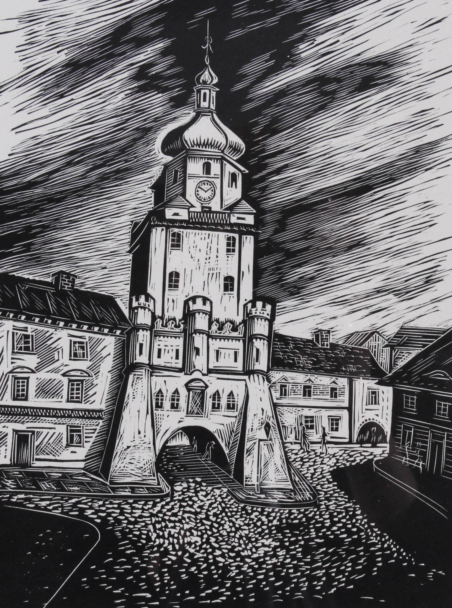 RASSALSKI Stefan (1910 - 1972) LUBLIN - BRAMA KRAKOWSKA Z TEKI