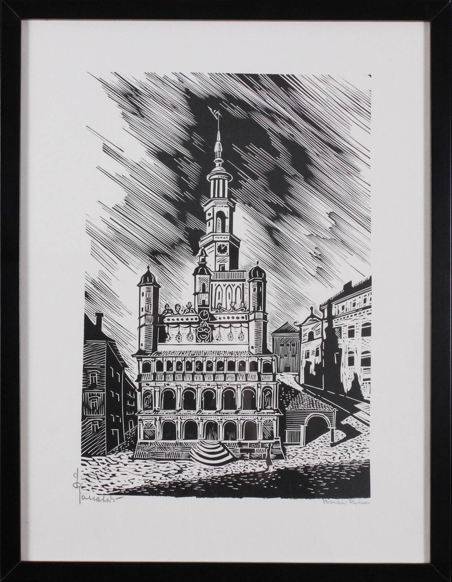 RASSALSKI Stefan (1910 - 1972) POZNAŃ-RATUSZ Z TEKI