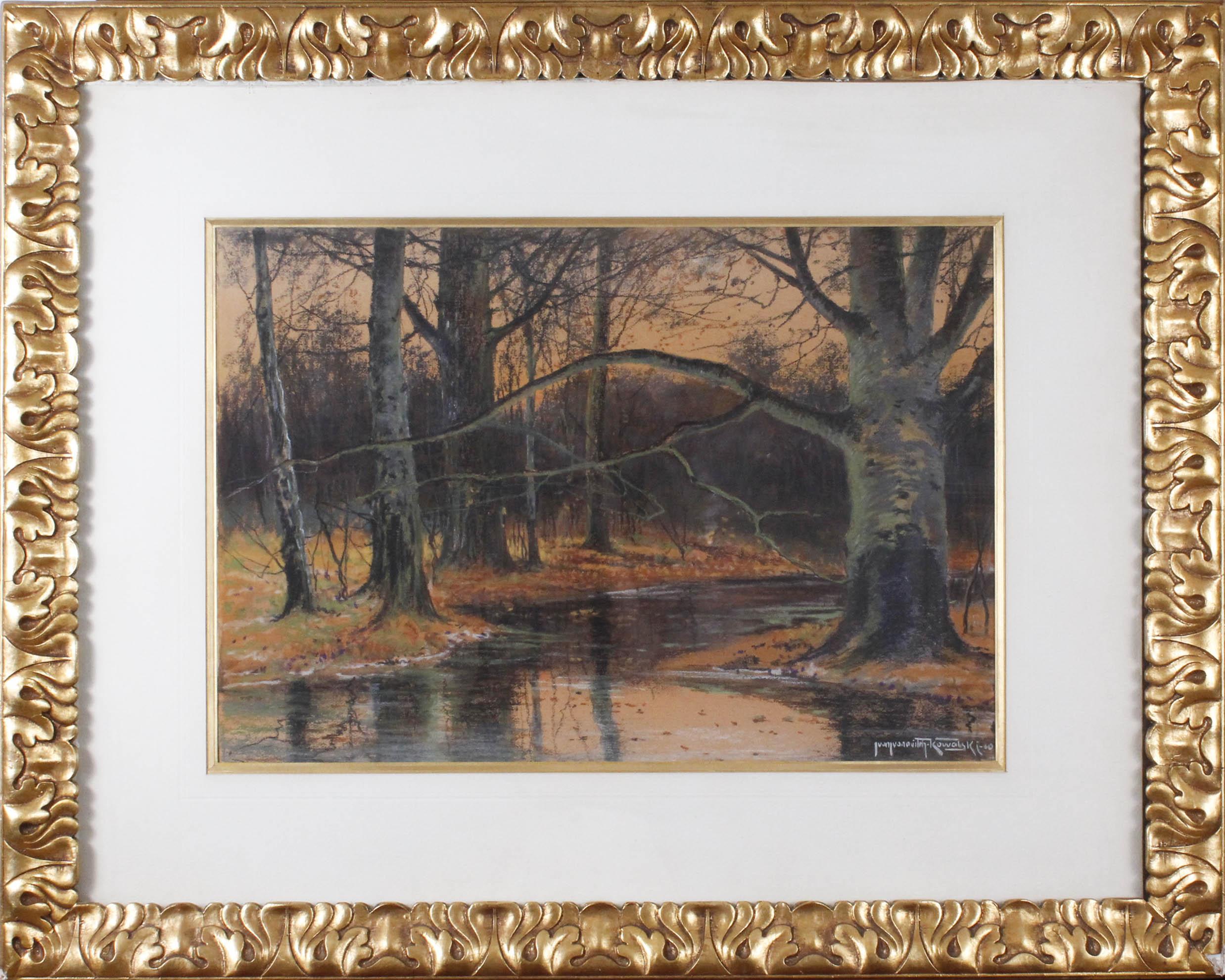 KOWALSKI Leon (1870-1937) JESIEŃ NAD STRUMYKIEM