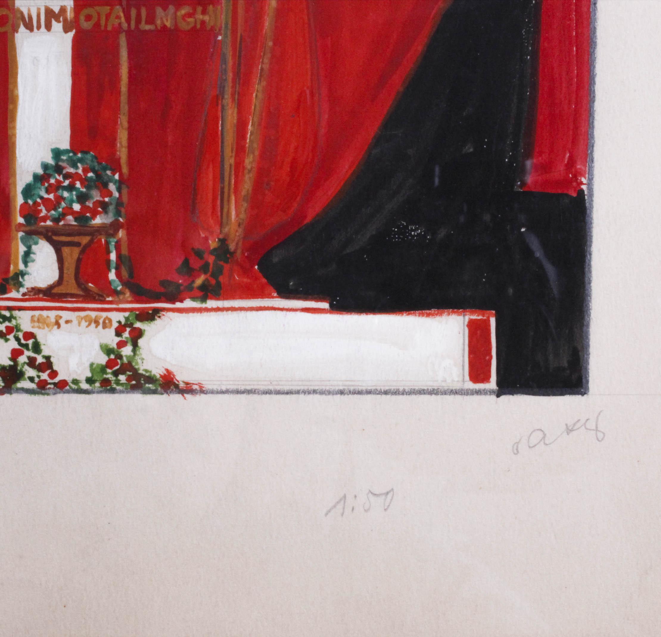 AXER Otto (1906-1983) PROJEKT SCENOGRAFII
